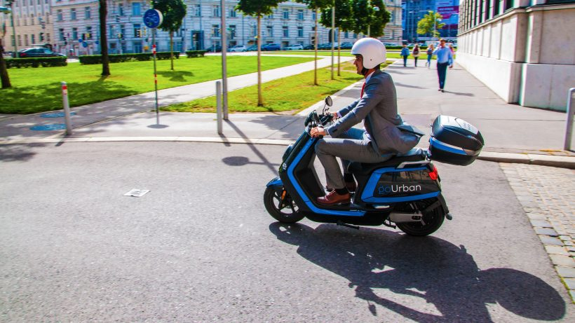 goUrban-Elektromoped unterwegs. © goUrban