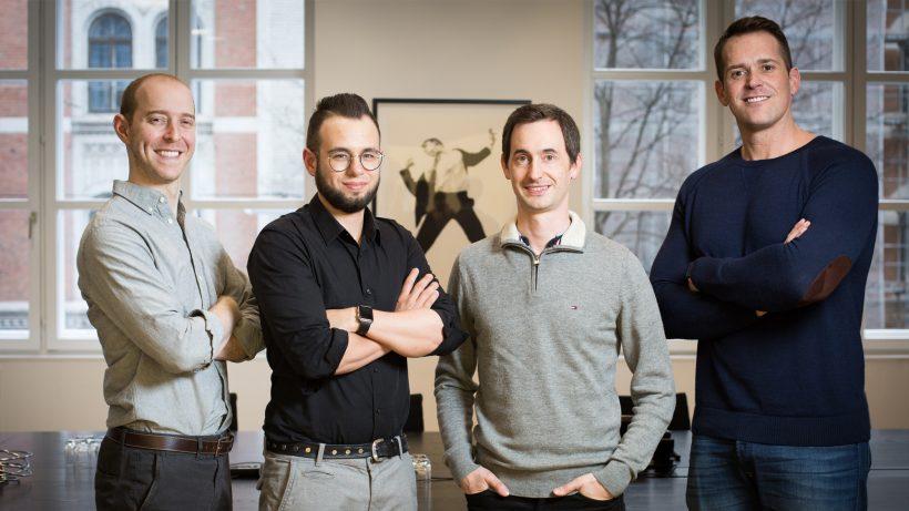 Zach Roseman (VP of Operations, IAC Applications), Andreas Dolinsek (CTO, iTranslate), Alexander Marktl (CEO, iTranslate) und Tim Allen (CEO, IAC Applications). © Michael Beck