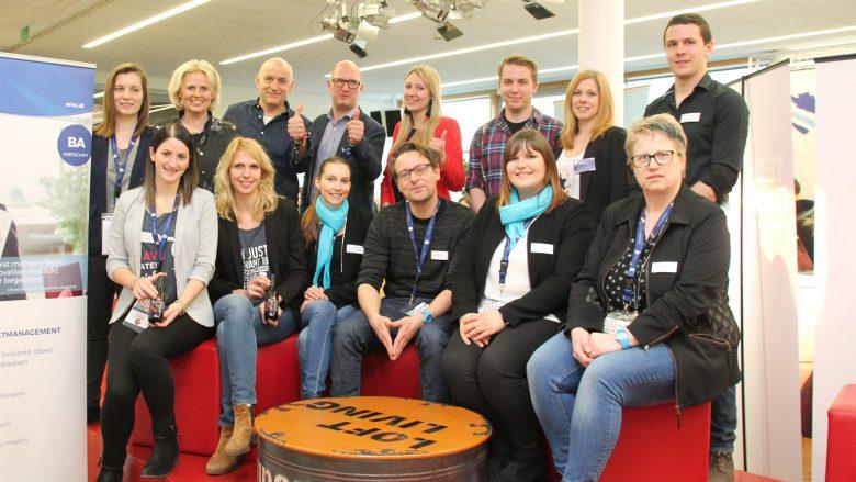 Die Teams vom Marketing Campus Wieselburg, Vinotaria und Pfotenboten. © Marketing Campus Wieselburg
