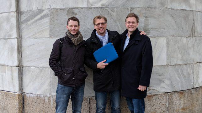 123sonography in den USA: US-Produktmanager Ryan Crowder, CEO Klaus Müller und US-Geschäftsführer Chris Bene (von links). © 123sonography