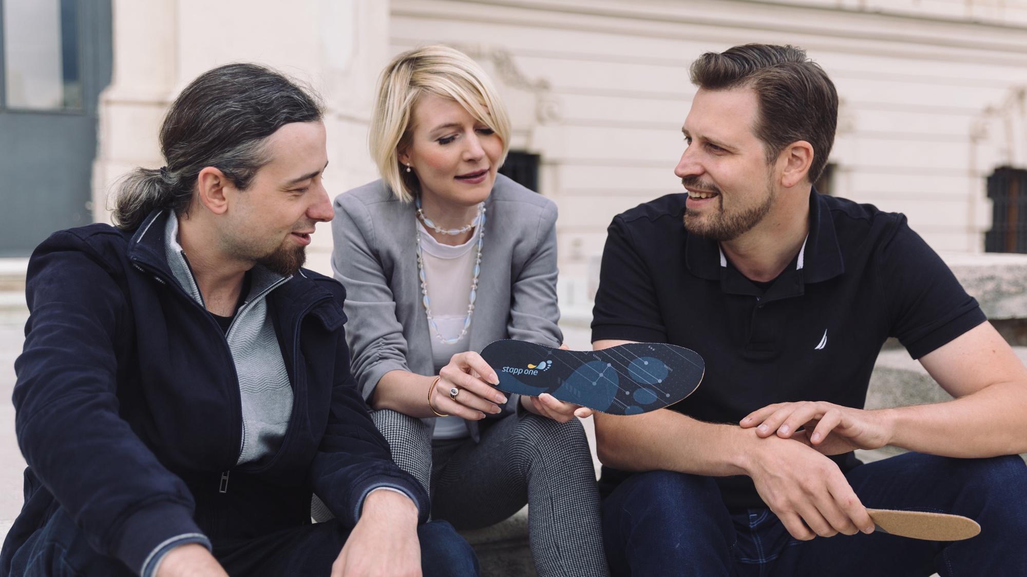 Das Stapptronics-Team: Philipp Olbricht, Sylvia Strell und Peter Krimmer. © Stapptronics