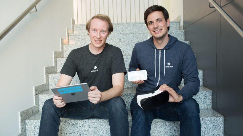 Die beiden Bitmovin-Mitgründer Christopher Müller und Stefan Lederer. © Bitmovin