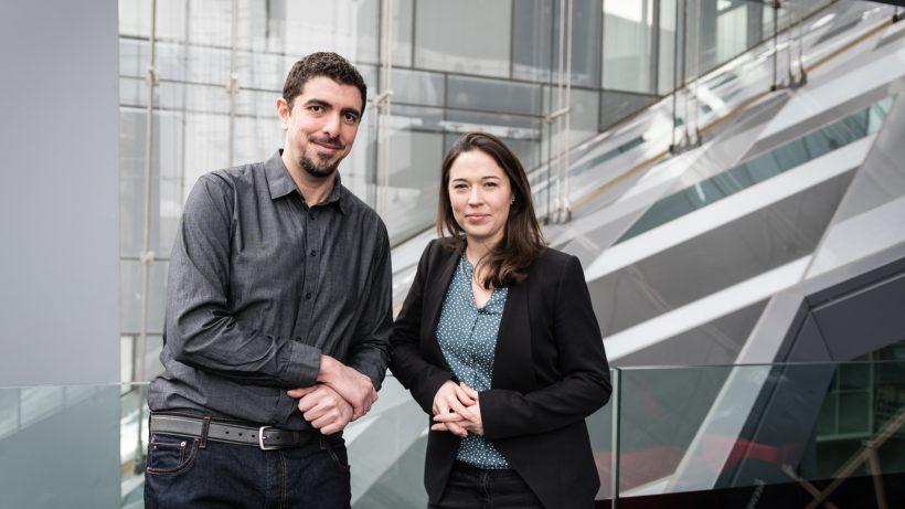 Hossam Elsifary und Annette Mossel von Frameless. © Frameless