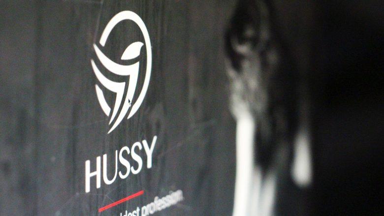 Hussy.io zeigt Logo des Projekts und halbnackte Frau. © Jakob Steinschaden