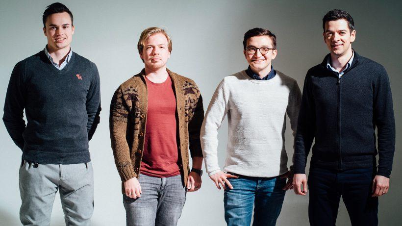 Das NEM-Team für Österreich: Julian Richter, Kevin van Heck, István Deák und Paul Rieger. © NEM