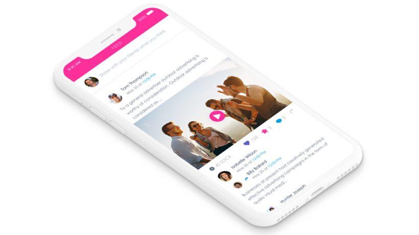 Entwurf der SocialX-App. © SocialX