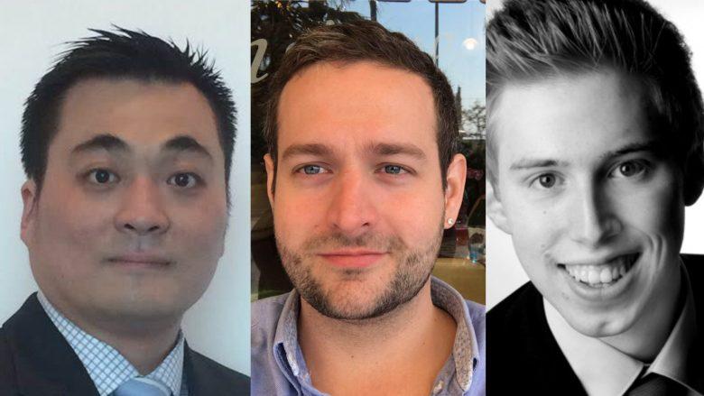 Doe SocialX-Gründer Philip Hendry, Marcel Füssinger und Christian Josephs. © SocialX / Montage Trending Topics