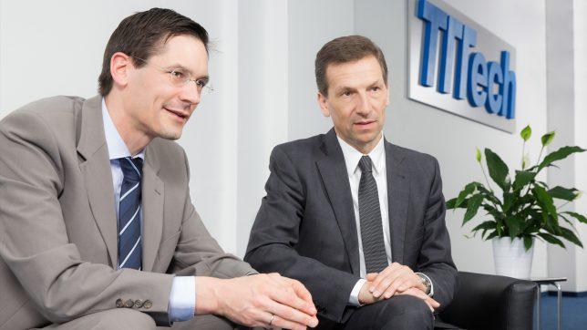 Georg Kopetz und Stefan Poledna von TTTech. © TTTech