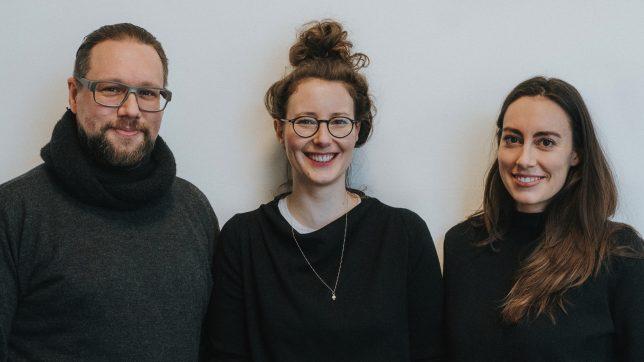 Das WisR-Team: Martin Melcher, Klaudia Bachinger undCarina Roth. @ WisR