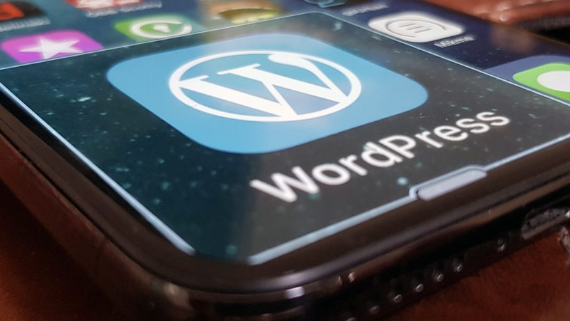 Wordpress am iPhone. © Sara Grasel