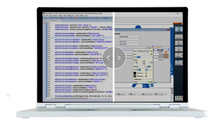 Egal ob mittels Code oder visuellen Werkzeugen, eine Low-Code-Plattform - wie etwa VisionX - ermöglicht die einfache Erstellung von Applikationen für Desktop, mobile Plattformen, oder Web (Quelle: visionx.sibvisions.com)