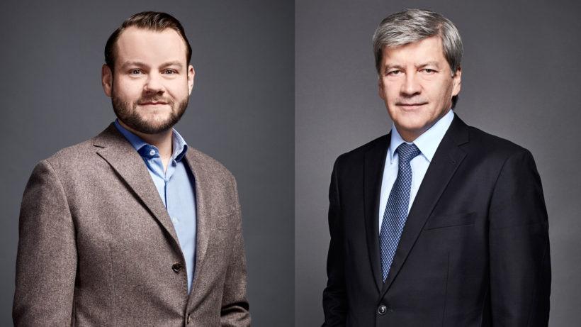 Hannes Cizek (Leiter Group Digital Banking, RBI) und RBI-CEO Johann Strobl. © RBI
