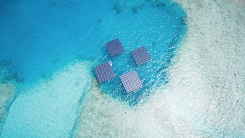 Swimsol-Plattformen auf den Malediven. © Swimsol