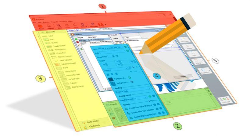 Visuelle Art der Programmierung mit einer Low-Code-Plattform am Beispiel VisionX. © VisionX