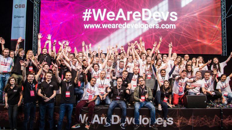 Gruppenbild bei der WeAreDevelopers-Konferenz 2017. © WeAreDevelopers