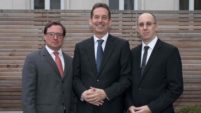 Das Führungsteam von Cyan: CFO Michael Sieghart, CEO Peter Arnoth und CTO Markus Cserna. © Cyan AG