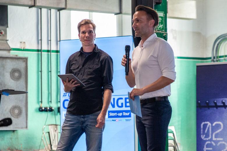 Jakob Steinschaden (Trending Topics) und Michael Wurzer (Gründer- und Fördercenter der Tiroler Sparkasse). © David Bitzan