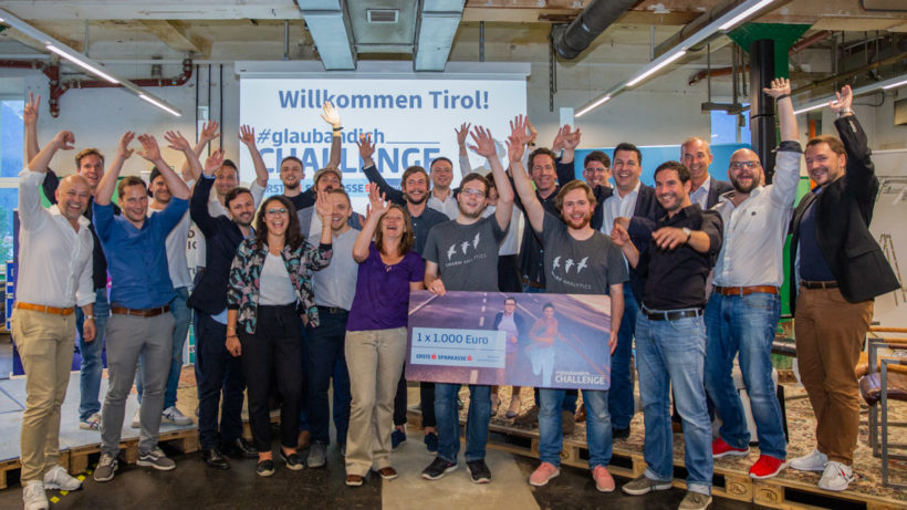 Die Startups der #glaubandich Challenge in Tirol. © David Bitzan