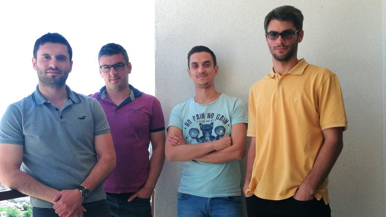 Jetmir Halimi (links) und sein Team von Trekandi sind das erste Fintech aus dem Kosovo. ©Trekandi