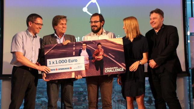 SzeleSTIM erhält als Landessieger der #glaubandich-Challenge 1.000 Euro in bar und zieht ins große Finale ein. © David Bitzan