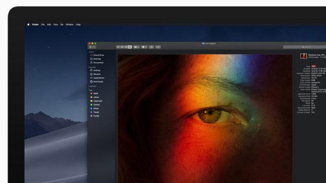 """Der """"Dark Mode"""" von macOS Mojave. © Apple"""