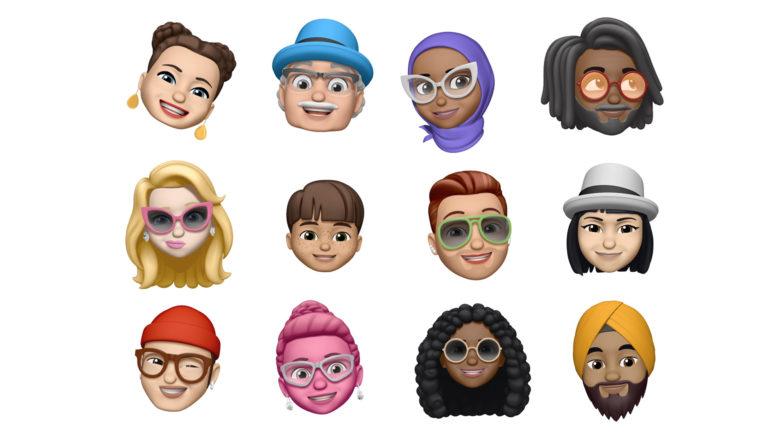 Die neuen Memojis. © Apple