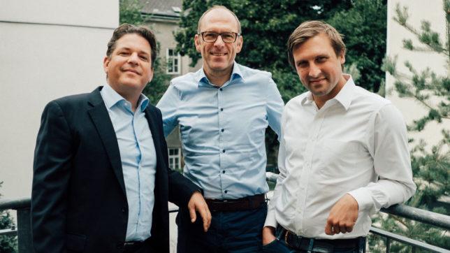 Christoph Prieler, Ulrich Tröller und Patrick Sagmeister von Finmatics. © Finmatics