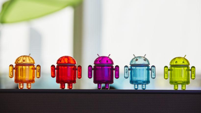 Android-Figuren, die niedliche Art. © Google