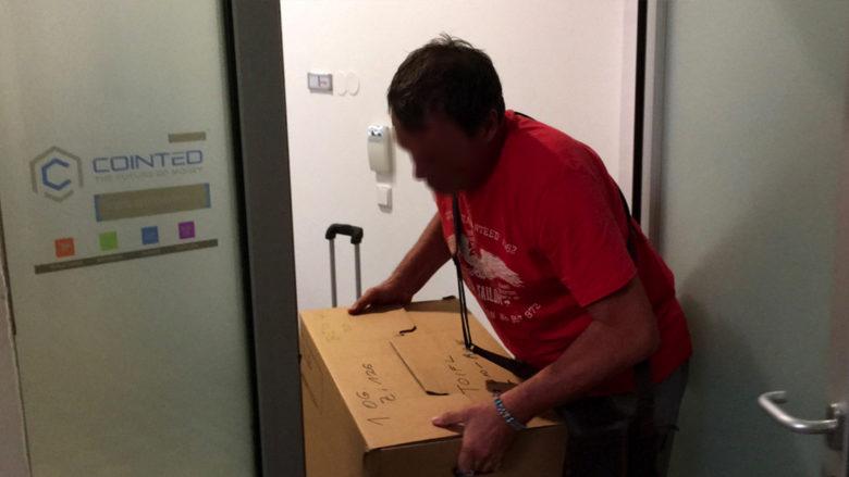 Hausdurchsuchung bei Cointed: Unterlagen werden beschlagnahmt. © Barbara Duras