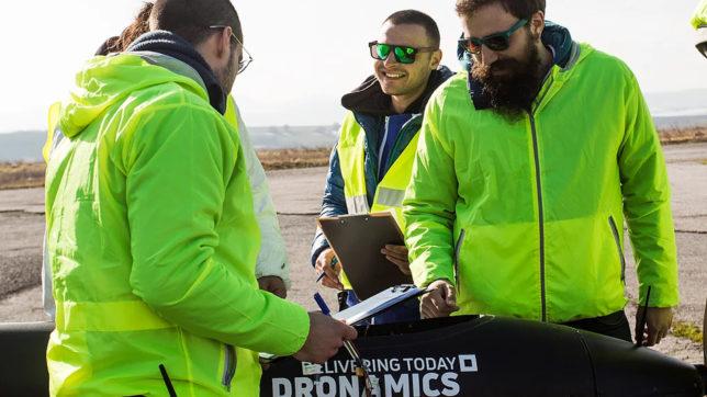 The Dronamics team at work. © Dronamics