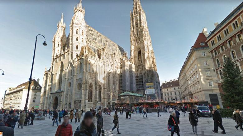 Google Street View am Stephansplatz in Wien. © Google