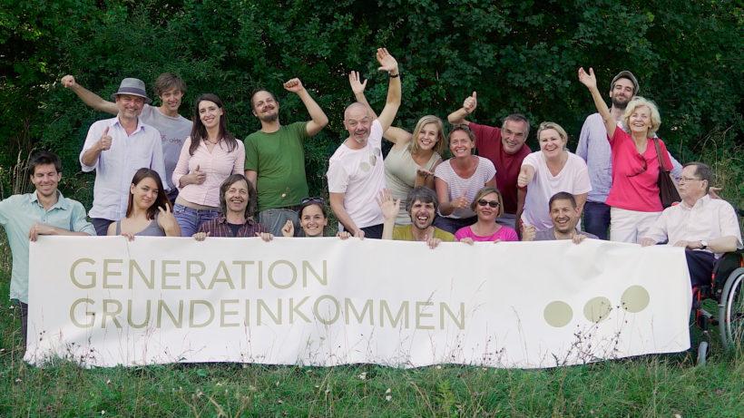 """Das Team des Vereins """"Generation Grundeinkommen."""" © Generation Grundeinkommen"""