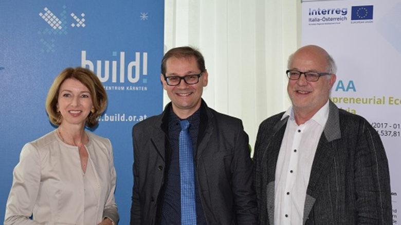 LHStv.in Gaby Schaunig, Robert Gfrerer und Hans Schönegger, Geschäftsführer der BABEG. © Büro Schaunig