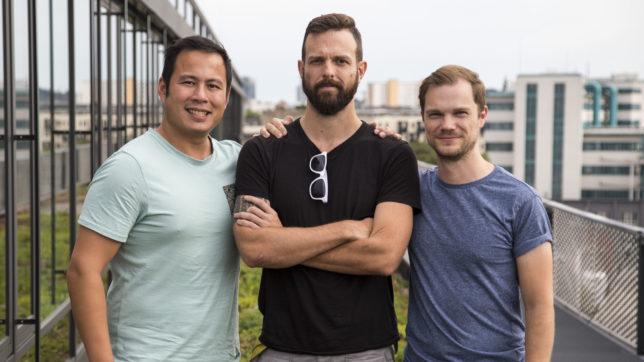 Die beiden Oktav-Gründer Toni Luong (li.) und David Kitzmüller (re.) gemeinsam mit Franz Enzenhofer. © Oktav