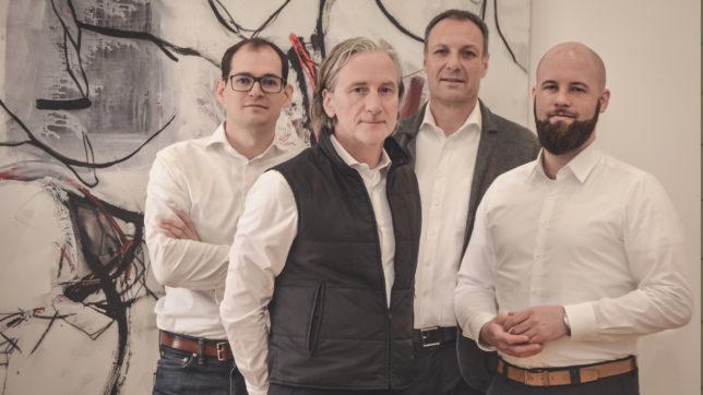 Die vier STRATACT-Gründer Thomas Urban, Michael Girstmair, Thomas Lang und Lennart Berkey. © Stratact