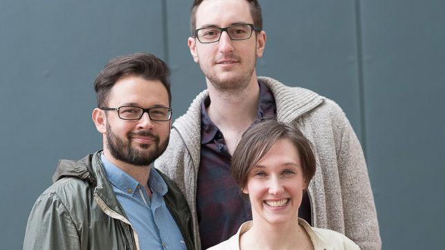 Claudia Eder, Matthias Funk und Matthias Posch von tubics. © tubics