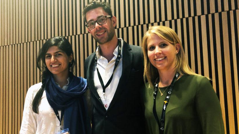 Die drei Finalisten: Samira Hayat, Matthias Zöhrer und Denise Mandt. © Jakob Steinschaden