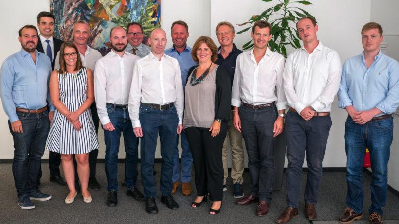 Das FramDok-Team und seine Investoren. © PrimeCrowd