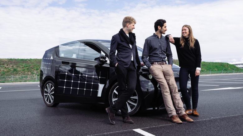 Jona Christians, Laurin Hahn und Navina Pernsteiner. © Sono Motors
