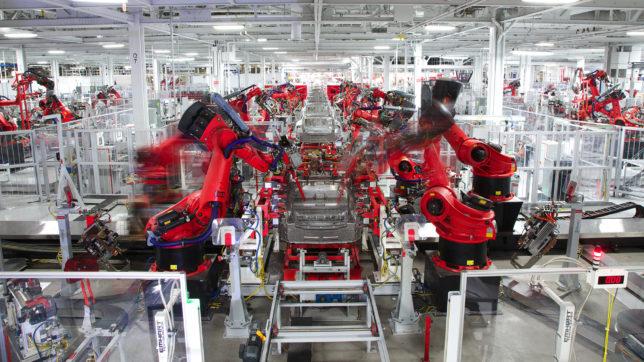 Tesla-Fabrik in Fremont, USA. © Tesla Motors