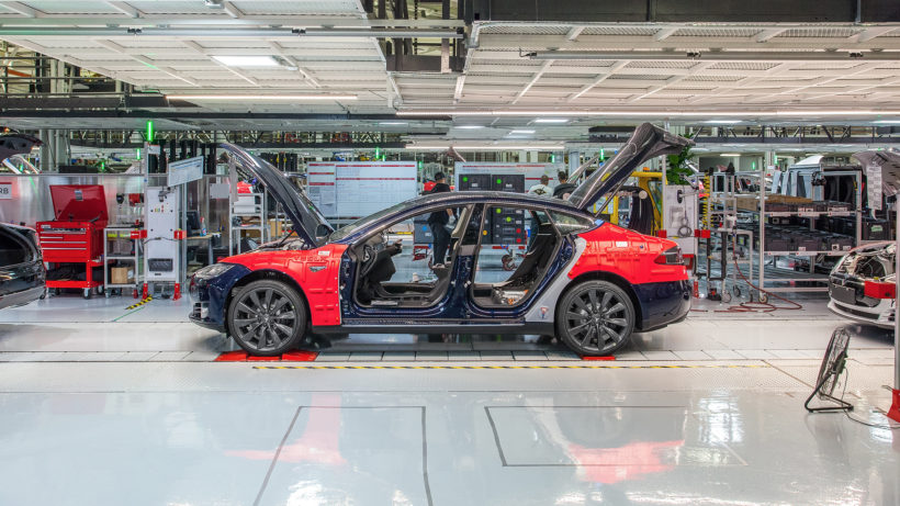 In der Tesla-Fabrik in Fremont. © Tesla Motors