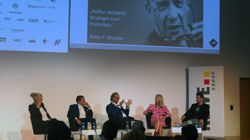 Wieviel Startup verträgt ein Konzern? Podiumsdiskussion am Forum Alpbach. © Trending Topics
