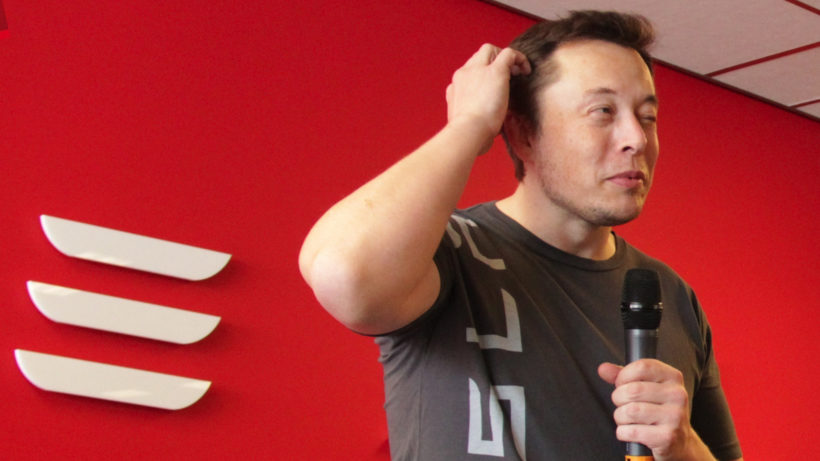 "Elon Musk ist jetzt ""Technoking of Tesla"". © Tesla Owners Club Belgium (CC BY 2.0)"