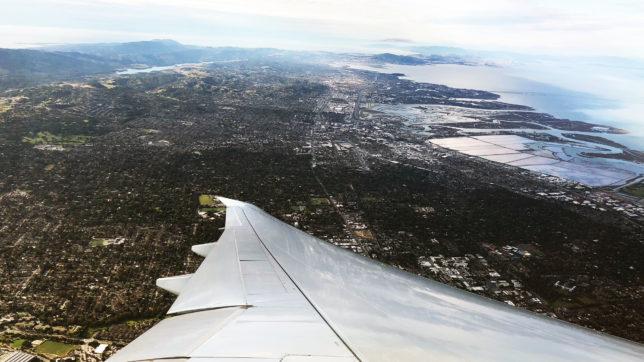 Landeanflug auf die Bay Area, Heimat des Silicon Valley bei San Francisco. © Jakob Steinschaden