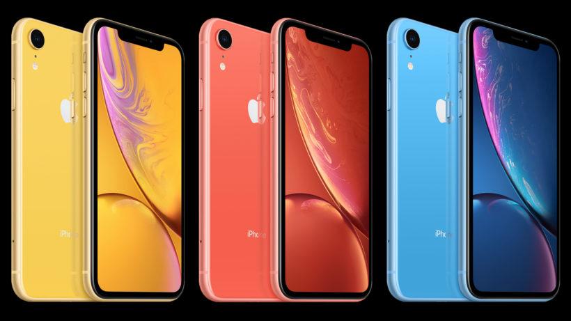 Das iPhone Xr gibt es in fünf Farben. © Apple