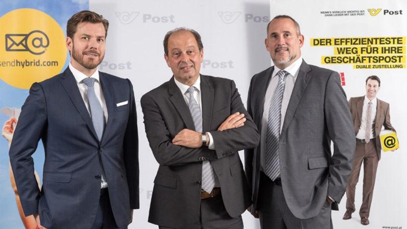 Die sendhybrid-Geschäftsführer Peter Danner, Josef Maier, und Oliver Bernecker © sendhybrid