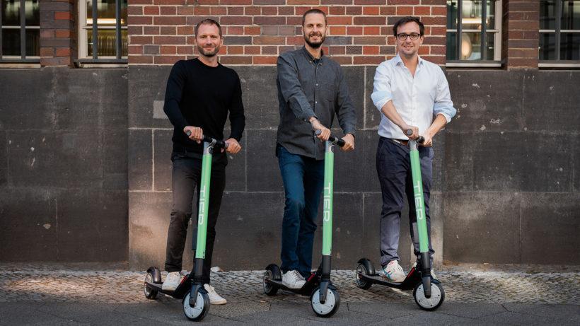 Die Tier Mobility-Gründer. © Tier Mobility