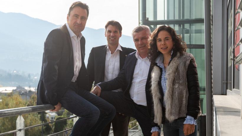 Beat Blaser, Andreas Arquin, Erich Falkensteiner und Ingrid Silginer von Falkensteiner Ventures. © Falkensteiner Ventures