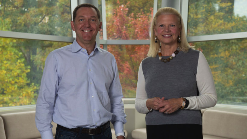 Red-Hat-CEO Jim Whitehurst und IBM-CEO Ginni Rometty. © IBM