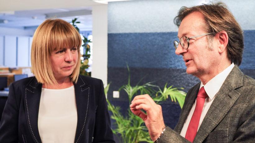 Mayors of Sofia Yordanka Fandakova and Director of Vienna Business Agency Gerhard Hirczi talk about similarities between the ecosystems ©Trending Topics/Robert Ziffer-Teschenbruck